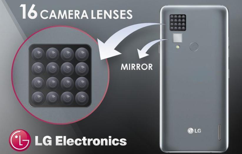 ال جی پتنت گوشی مجهز به 16 دوربین را ثبت کرد
