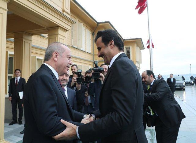 نشست غیرعلنی اردوغان با امیر قطر