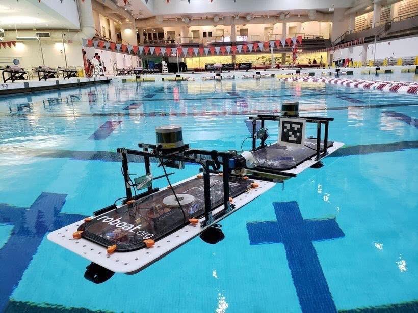 قایقی روباتیک که به پل تبدیل می گردد
