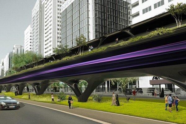 هایپرلوپ ها با مزارع شهری و پیاده روهای سبز از راه می رسند