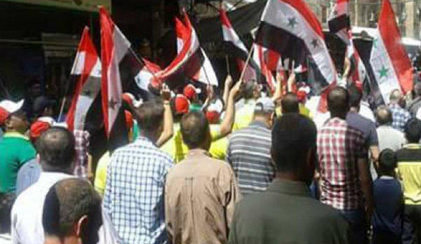 تظاهرات علیه جبهة النصره و نیروهای متحد ترکیه در ادلب سوریه