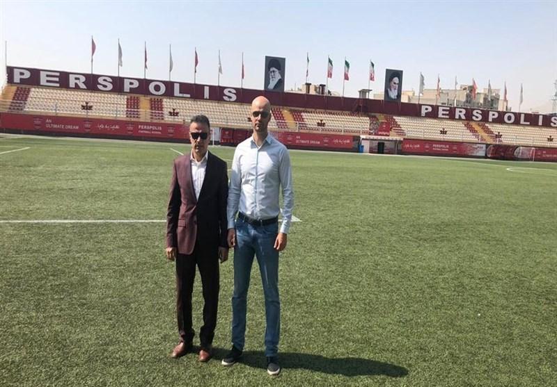دیدار مدیرعامل باشگاه پرسپولیس با مدیر فنی آموزشگاه رئال بتیس، پسر کالدرون راهی درفشی فر شد
