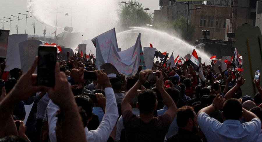 تظاهرات در بغداد و چند شهر عراق از سرگرفته شد