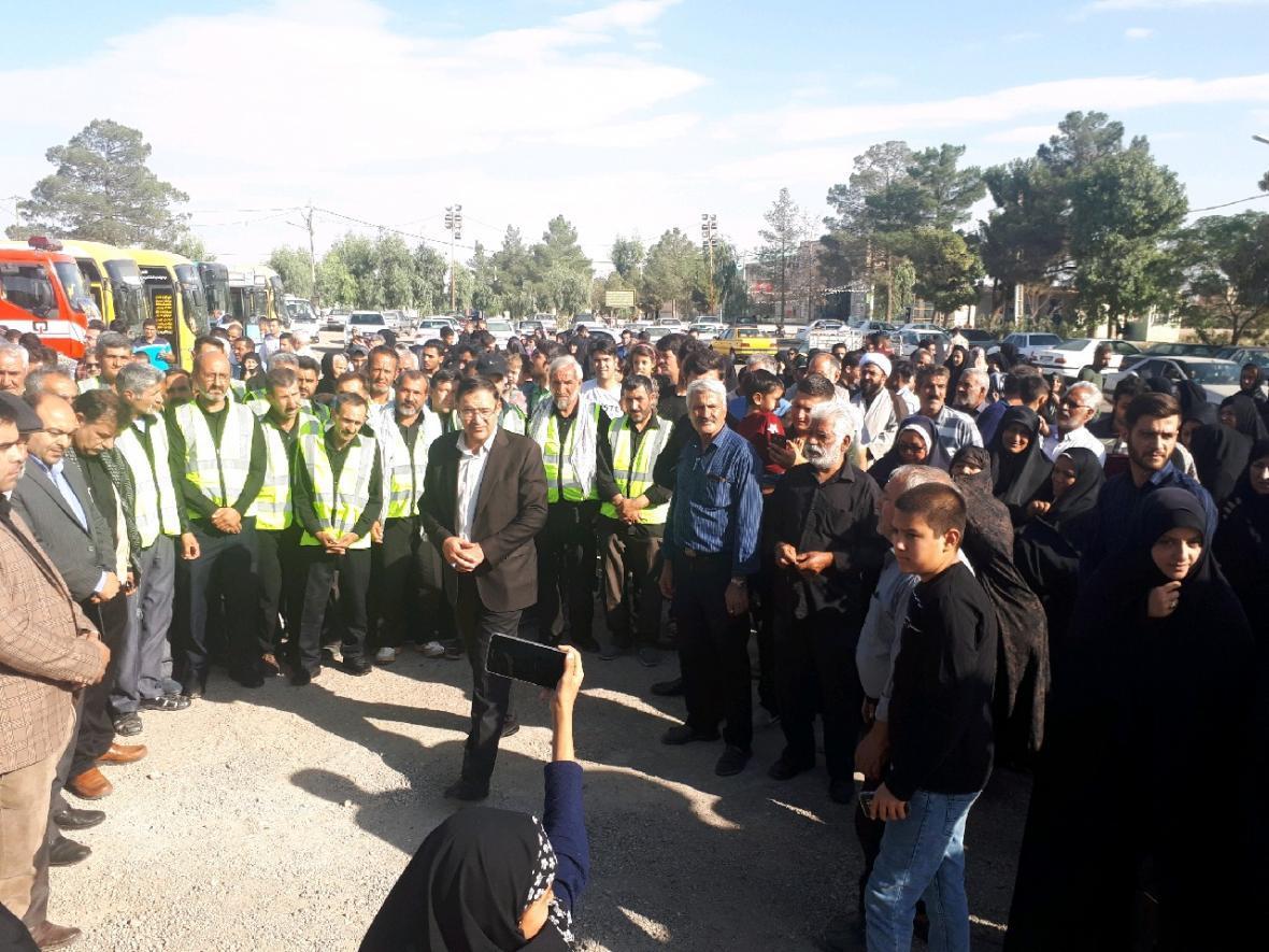 اعزام کاروان خدمات رسانی اربعین شهرداری ساوه به عراق