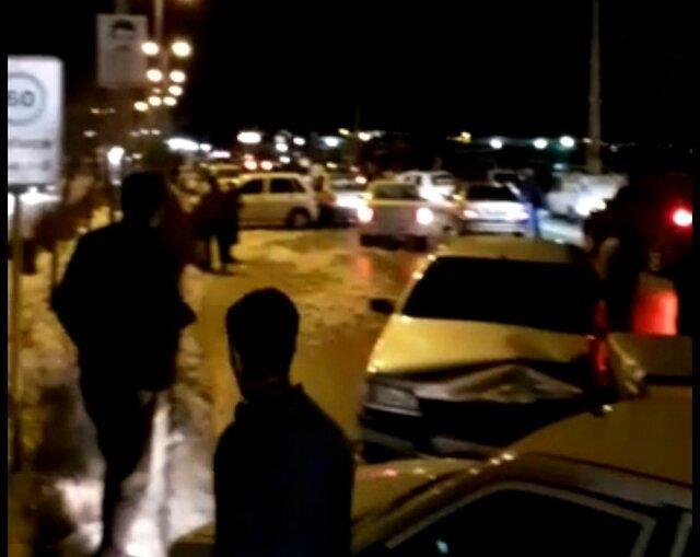 تصادف زنجیره ای 20 دستگاه خودرو در بلوار شهید هرمزپور یاسوج