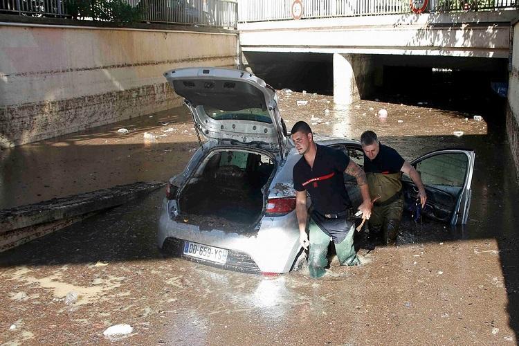 شمار تلفات ناشی از سیل در جنوب فرانسه افزایش یافت