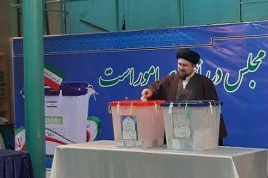 سیدحسن خمینی در انتخابات شرکت کرد