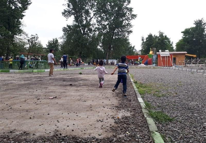 گیلان، قدیمی ترین پارک عمومی رشت با فضایی ناایمن برای بازی بچه ها