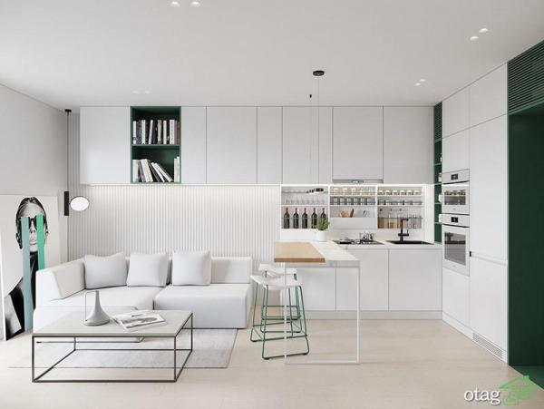 چیدمان آپارتمان 30 متری ، دو نمونه بسیار زیبا بهمراه پلان