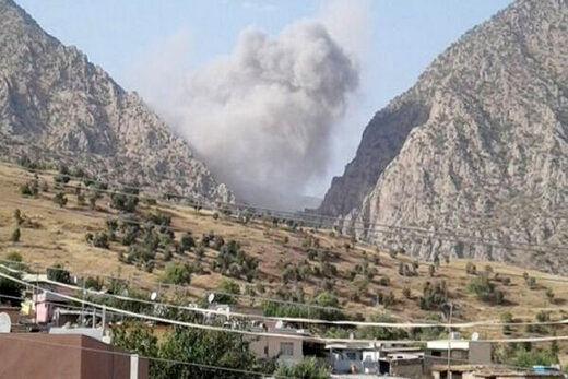 بمباران هوایی عراق به وسیله جنگنده های ترکیه