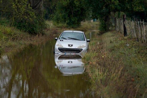 تور فرانسه: جاری شدن سیل در روستاهای جنوبی فرانسه، تخلیه صدها نفر از روستاها